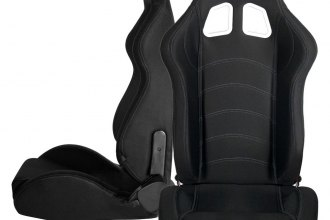 Cipher® CPA1016FBK-W - CPA1016 Series Black Cloth with Outer White Stitching Racing Seats