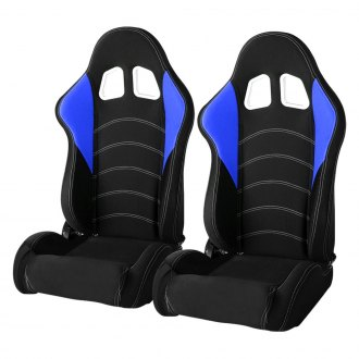 Cipher® - CPA1017 Series Black Cloth with Blue Insert Racing Seats