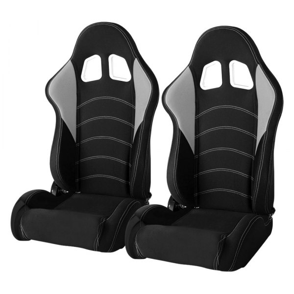 Cipher® - CPA1017 Series Black Cloth with Gray Insert Racing Seats