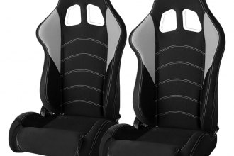 Cipher® CPA1017FBKGY - CPA1017 Series Black Cloth with Gray Insert Racing Seats