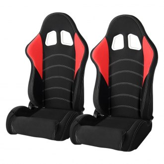 Cipher® - CPA1017 Series Black Cloth with Red Insert Racing Seats