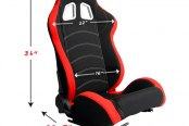 Cipher® - CPA1018 Series Racing Seats Dimensions