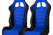 Cipher® - CPA1018 Series Black Cloth with Blue Insert Racing Seats