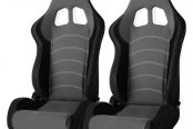 Cipher® - CPA1018 Series Black Cloth with Gray Insert Racing Seats