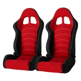 Cipher® - CPA1018 Series Black Cloth with Red Insert Racing Seats
