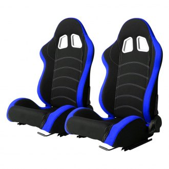 Cipher® - CPA1018 Series Black Cloth with Blue Trim Racing Seats