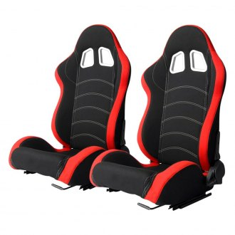Cipher® - CPA1018 Series Black Cloth with Red Trim Racing Seats