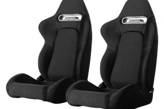 Cipher® CPA1019FBK-G - CPA1019 Series Black Cloth with Outer Gray Stitching Racing Seats