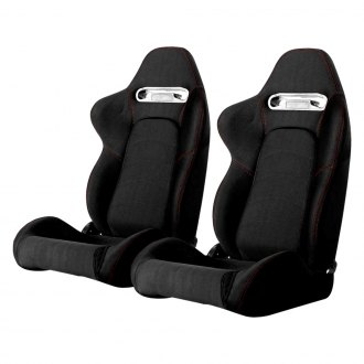 Cipher® - CPA1019 Series Black Cloth with Outer Red Stitching Racing Seats
