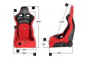 Image may not reflect your exact vehicle! Cipher® - CPA2003 VP-8 Series Racing Seats Dimensions