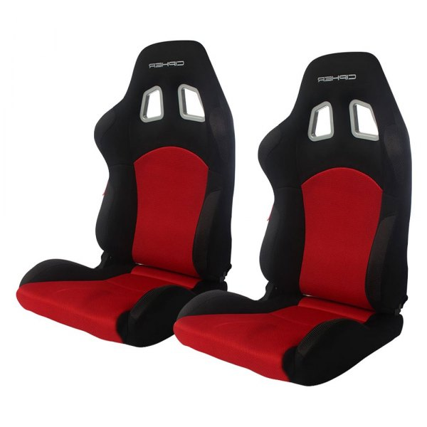 Cipher® - CPA2007 M-8 Series Black and Red Cloth with Anti Slip Inserts Racing Seats