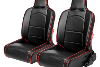 Cipher® CPA3002PBK-R - CPA3002 Series Black Leatherette With Red Piping Suspension Seats