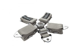 Cipher® - Gray 5-Point Quick Release Racing Harness