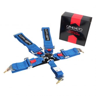 Cipher Auto® - 5 Points Camlock Racing Harness, Blue