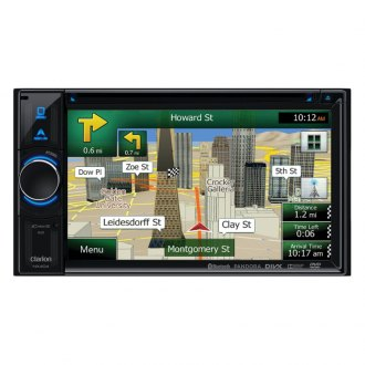 "Clarion® - 6.2"" Double-DIN In-Dash DVD Multimedia Station with Built-In Navigation, Touchscreen Control & Bluetooth"