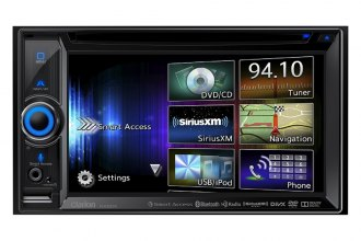 "Clarion® - 6.2"" Double-DIN In-Dash DVD Multimedia Smart Access Receiver with Built-in Navigation & Touchscreen Control"