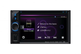 "Clarion® - 6.2"" Double DIN In-Dash DVD Multimedia Station with Touchscreen Control and Bluetooth"