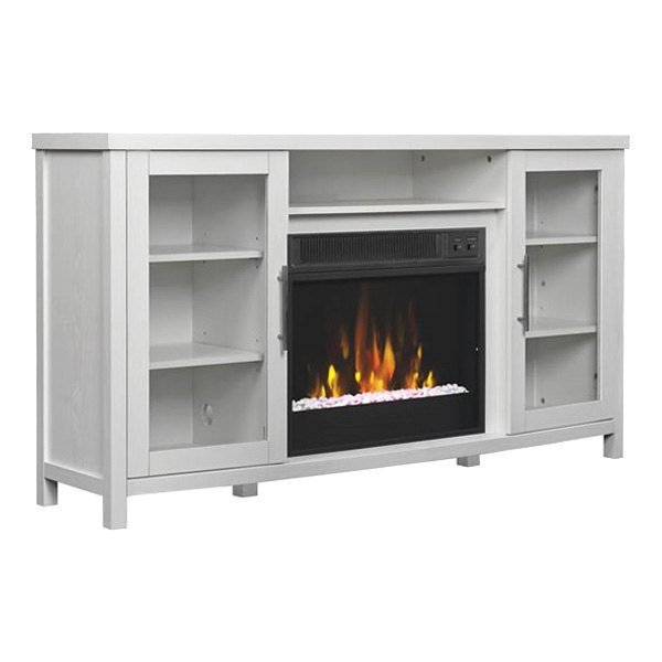 "Rossville TV Stand with 18"" Electric Fireplace - Part Number 18MM6036-PT85S by Classic Flame. Color: White. For TVs up to 65"" or up to 90 lb. Home & Appliances."