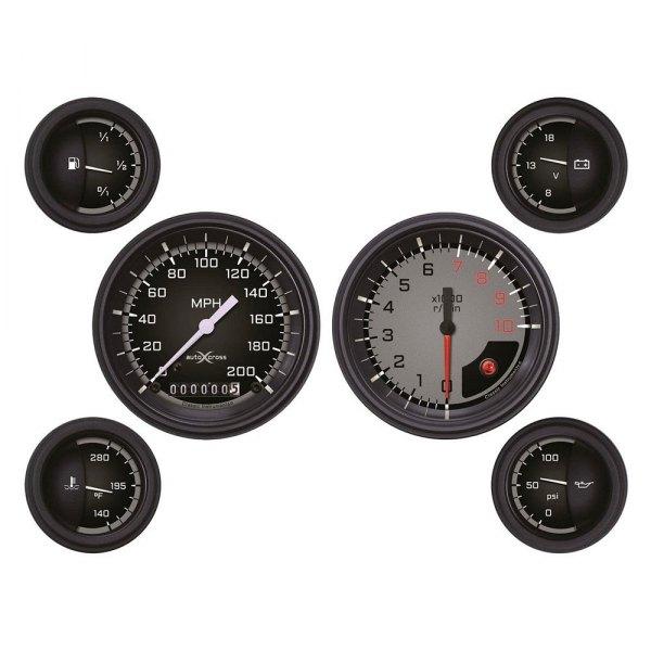 Electronic Auto Gauge Set : Classic instruments ax gblf auto cross series gauge sets