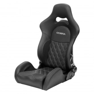 Cobra Seats® - Misano 30th Anniversary Seat Back Leather Diamond Stitch with Carbon Backrest