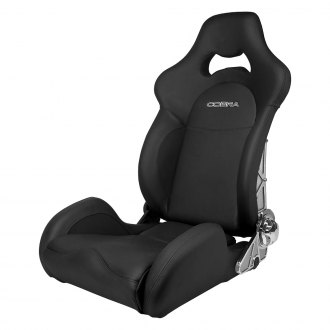 Cobra Seats® - Misano Lux Black Leather with Carbon Backrest Race Seat