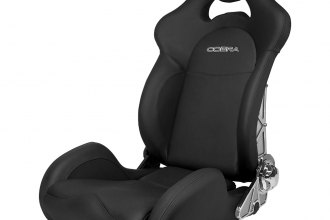 Cobra® MSL-L-SIG - Misano Lux L Black Leather with Carbon Backrest Race Seat
