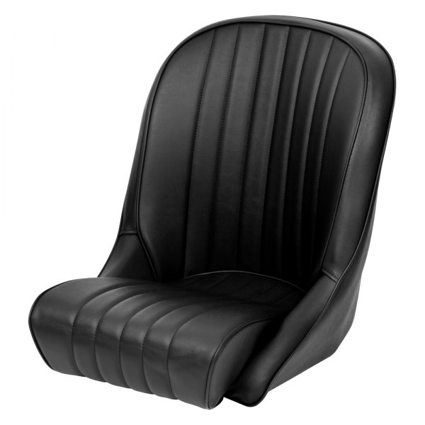 Cobra Seats® - Roadster XL Black Vinyl/Piping Race Seat