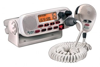Cobra® - Class D White Fixed Mount VHF Radio NOAA Channels