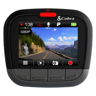 "Cobra® - Dash Camera with Builtin 2.0"" Screen and GPS/Bluetooth"