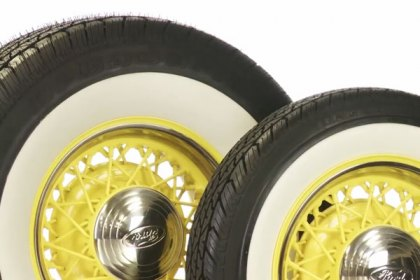 P155/80R13 - COKER® BFGoodrich Silvertown Whitewall Radial Tires (HD)