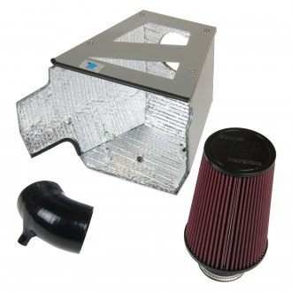Cold Air Inductions® - Elite Series Silicone Cold Air Intake System with Red Filter