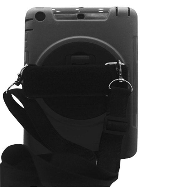 Colemax Black Plastic Rugged Cover Case With Shoulder Strap For Ipad Mini 4