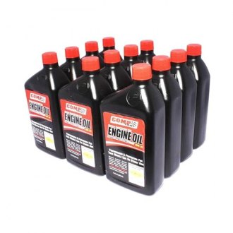 COMP Cams® - SAE 10W-30 Muscle Car And Street Rod Semi-Synthetic Engine Oil 12x1 Quart