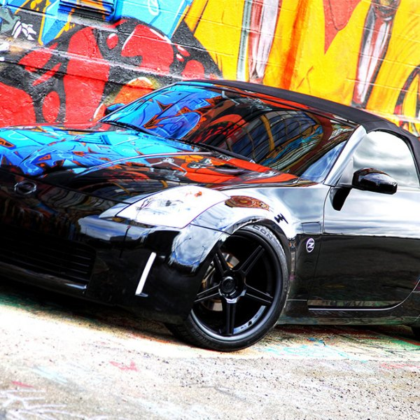 CONCEPT ONE® - CS-5.0 Matte Black on Nissan 350Z