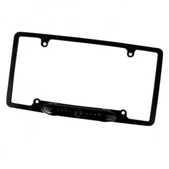 Concept® - Full Frame License Plate Mount Black Rear View Camera