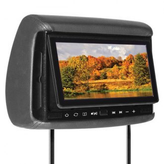"Concept® - 7"" Chameleon Headrest TFT Monitor with 3 Interchangeable Covers and Built-In DVD Player"