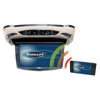 "Concept® - 10.1"" Flip Down LCD Monitor with Built-in DVD Player and 3 Housing Options"
