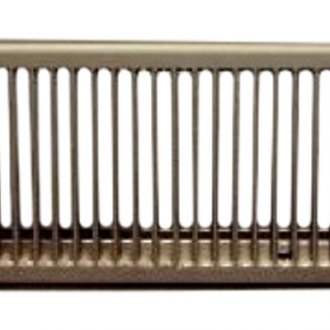"Continental Register® - 4"" x 8"" Complete Brown Metal Heat Register"