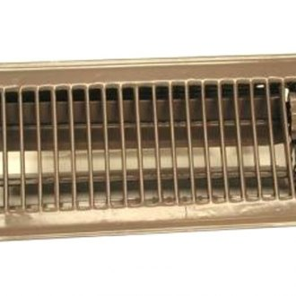 "Continental Register® - 4""X10"" Complete Brown Metal Heat Register"