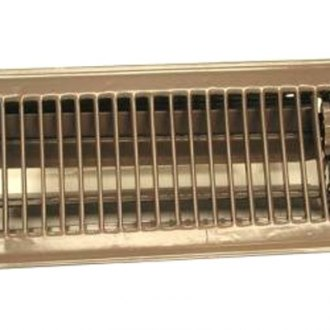 "Continental Register® - 4"" x 10"" Complete White Metal Heat Register"