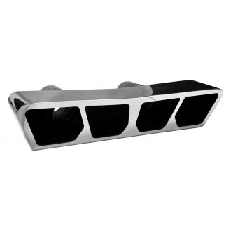 Corsa® - Polished Rectangular Tail Light Dual Rear Exit Tip