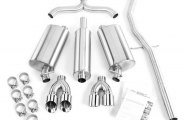 Corsa® - Touring Stainless Steel Cat-Back Exhaust System - Dual Rear Exit