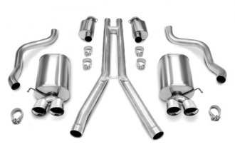 Corsa® - Touring Stainless Steel Cat-Back Dual Exhaust System -  Dual Rear Exit