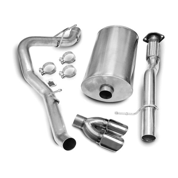 Corsa® - Polished Stainless Steel Cat-back Exhaust System - Single Rear Exit