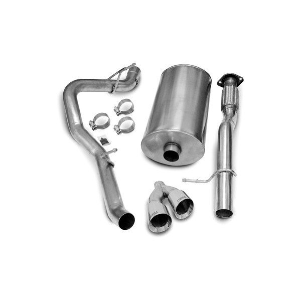 Corsa® - Touring Polished Stainless Steel Cat-Back Exhaust System - Single Side Exit