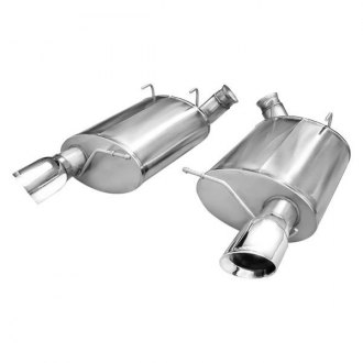 Corsa® - Sport Polished Stainless Steel Axle-Back Exhaust System - Dual Rear Exit