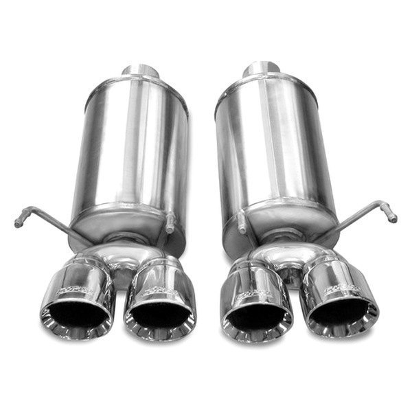 Corsa® - Xtreme Polished Stainless Steel Axle-Back Dual Exhaust System -  Dual Rear Exit