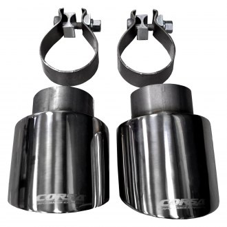 Corsa® - Pro-Series Stainless Steel Round Clamp-On Exhaust Tip