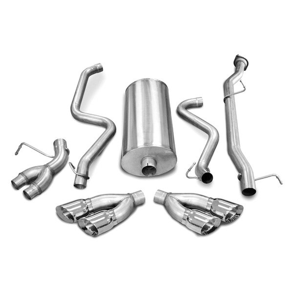Corsa® - Sport Polished Stainless Steel Cat-Back Exhaust System - Split Side Exit
