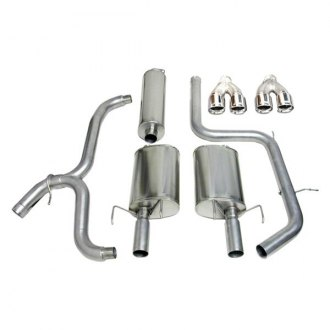 Corsa® - Touring™ 304 SS Cat-Back Exhaust System with Quad Rear Exit